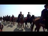 Участники конного крестного хода на Турецком валу в г. Армянск